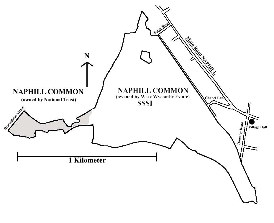 Naphill Common boundry map